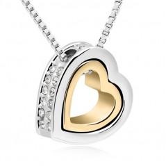 Nyaklánc dupla medállal, két szív egymásban. 00103ec
