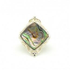 Ezüst gyűrű csiszolt kagylóval 623as