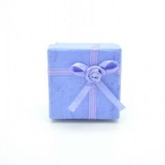Gyűrű és fülbevaló tartó ajándék díszdoboz, masnival. Kék